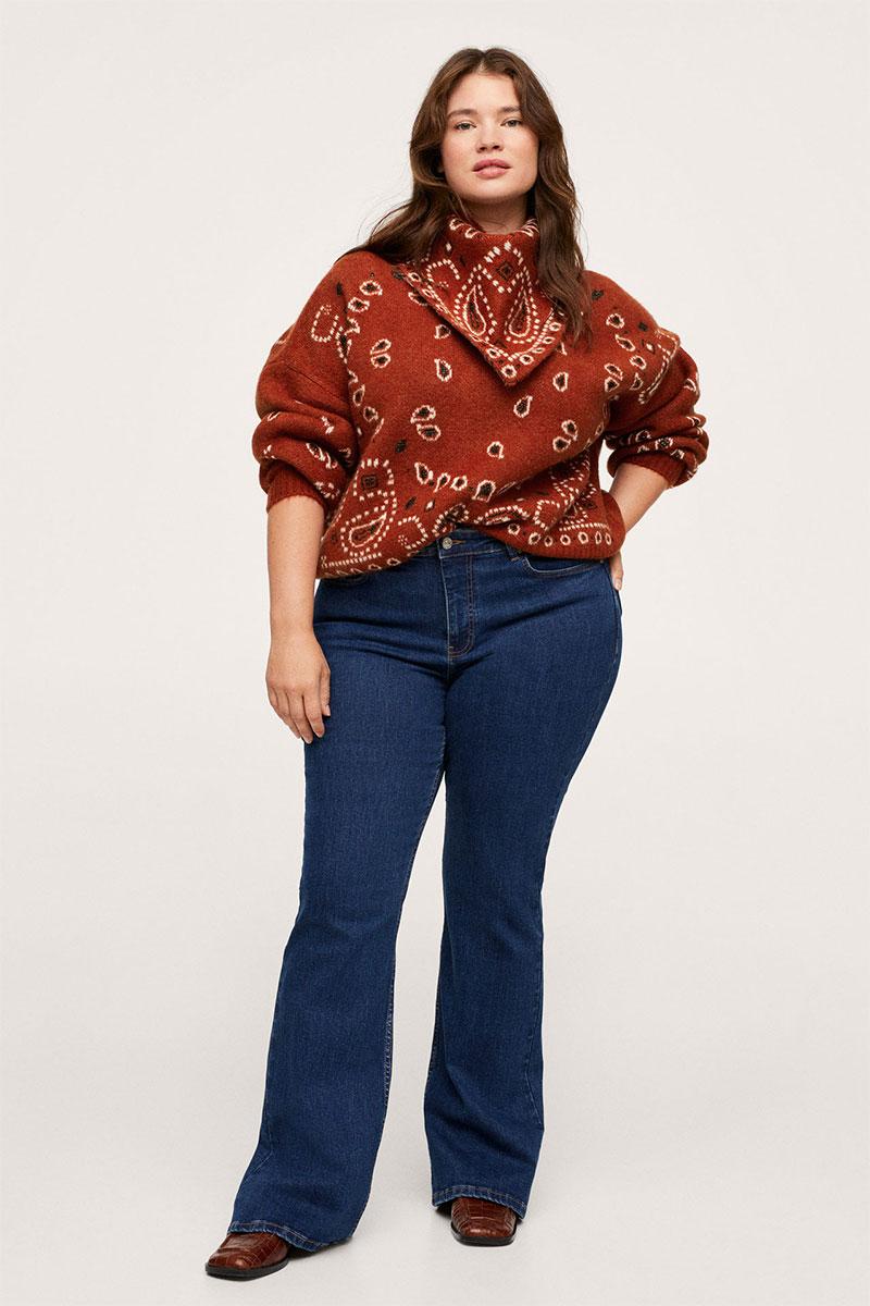 Mango Bandana Knit Sweater