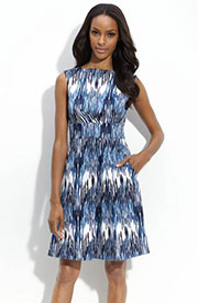 Image result for blue ikat dress