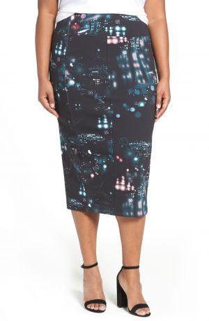 05c7bd3c220 Nordstrom. MELISSA MCCARTHY SEVEN7 Digital Print Ponte Pencil Skirt (Plus  Size)