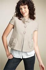 Sashimi Cap Sleeve Two Button Jacket