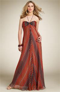 Laundry by Shelli Segal Optic Print Crinkle Halter Dress