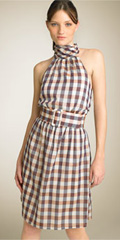 Gingham Halter Dress