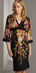 Printed Kimono Dress