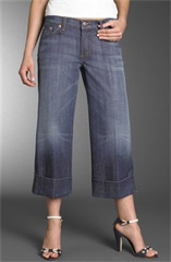 David Kahn Jeans Stretch Wide Leg Crop Pants