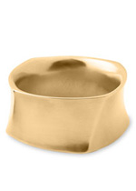 Simon Sebbag Brushed Gold Square Bangle Bracelet
