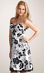 Oleg Cassini Cotton Floral Dress
