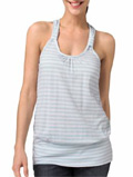 Cotton striped knotted tank