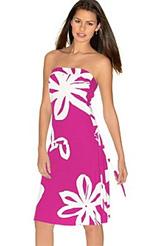 Roxy Floral-Print Tube Dress