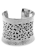 Lois Hill Hammered Cutout Cuff Bracelet