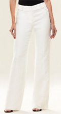 Linen Ivory Viscose Margo Wide Pant