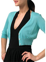 Silk or Cotton Cropped Cardigan