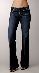 Paige Premium Denim Womens Robertson - Las Palmas Midnite Rocker with Crease