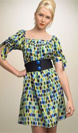 Nanette Lepore Print Shift Dress (with Belt)