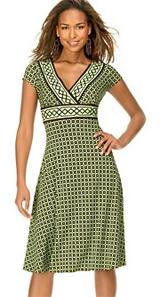 Maggy London Printed V-neck Dress