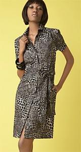 INC International Concepts® Safari-Print Shirtdress