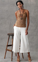Silk Pointelle Tank and Gauchos