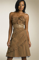 BCBG Max Azria Strapless Taffeta Party Dress