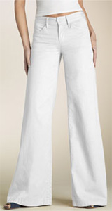 Goldsign 'Orchid' Wide Leg Twill Trousers
