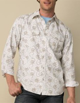 Banana Republic Cotton Floral Paisley Shirt