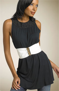 B-Low the Belt Bamboo Clasp Patent Leather Belt