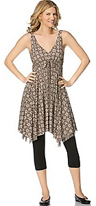 Michael Kors Medallion-Print Asymmetrical-Hem Dress