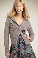 Free People Big Button Hoody Sweater
