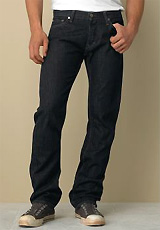 Slim straight dark indigo-wash premium jean