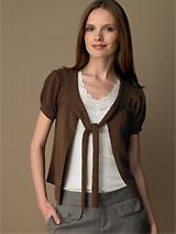 Merino Wool Tie-front Cardigan