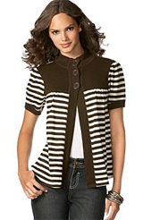 Eyeshadow Striped Cardigan