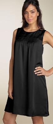 Calvin Klein Satin Sequin Trim Shift Dress