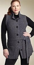 Classiques Entier® Belted Sweater Vest (Plus)