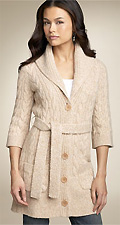 Juicy Couture Chunky Marled Sweater Coat