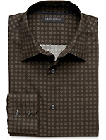 Slim Fit Barrel-Cuff Geo-dot Shirt
