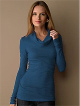 Long sleeve cowlneck top