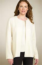 Eileen Fisher Pucker Silk & Cotton Jacket