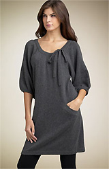 BCBGMAXAZRIA Tie Neck Sweater Dress