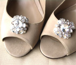 Gorgeous Clear Crystal Shoe Clips