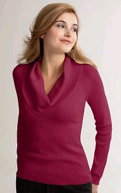 Raglan Sleeve Cowl Neck Sweater