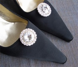Radiant Crystal Disc Shoe Clips