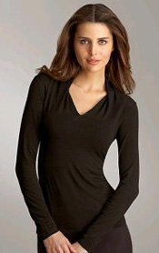 Rayon Drape Shoulder Top
