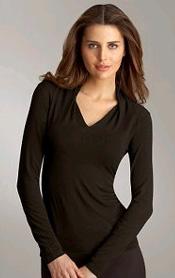 Rayon Drape Shoulder Top
