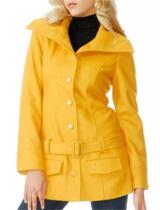 Mod Drop Waist Wool Coat