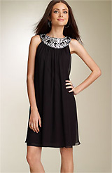 Maggy London Embellished Trapeze Dress