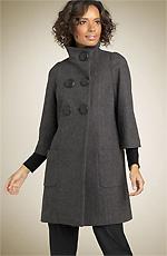 Valette Mini Check Swing Coat