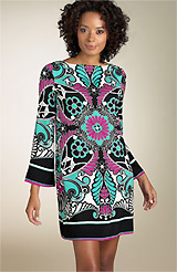 Nicole Miller Printed Shift Dress