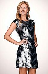 Steve Madden Sequin-Embellished Dress