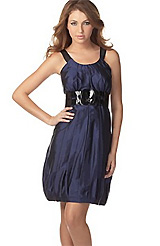 Kensie Silk Bubble Dress with Belt