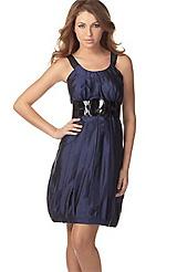 Kensie Silk Bubble Dress with Belt