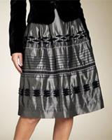 Carmen Marc Valvo Taffeta Skirt