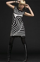 INC International Concepts® Embellished Zebra-Print Sheath Dress